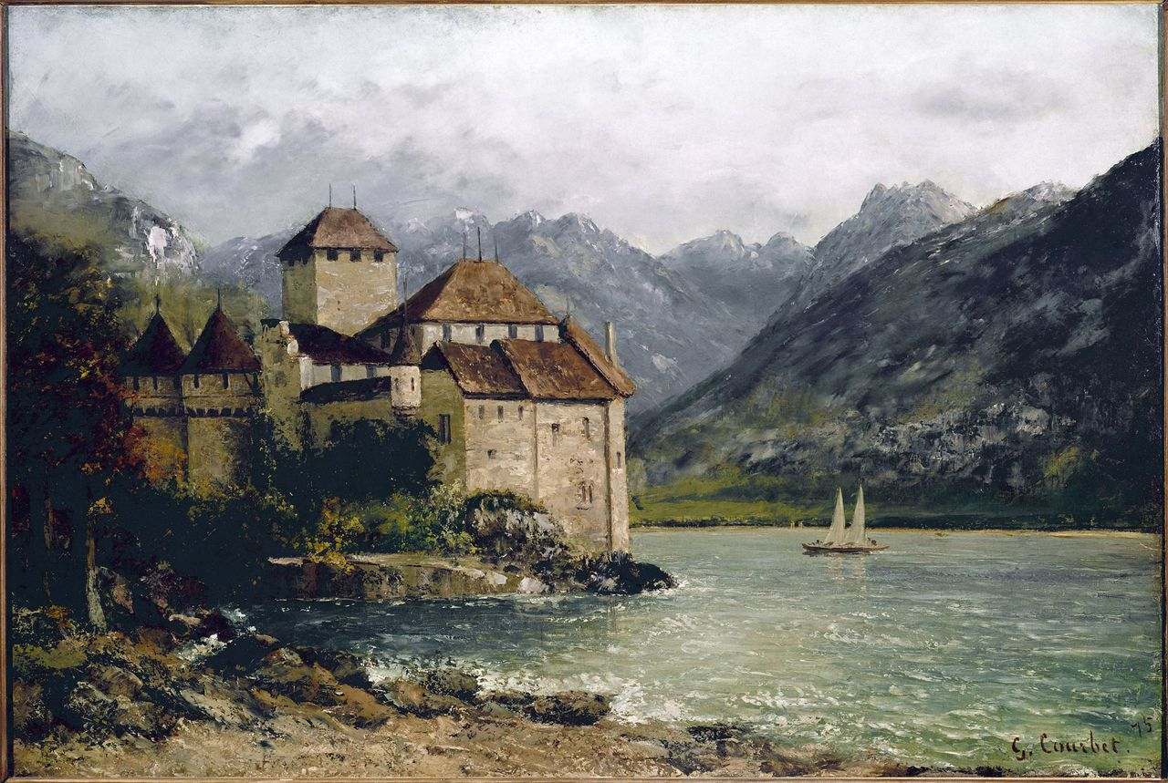 le chateau de chillon par G. Courbet 2