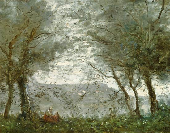 Corot: the pond
