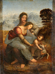 Leonardo da Vinci Virgin and Child with St Anne