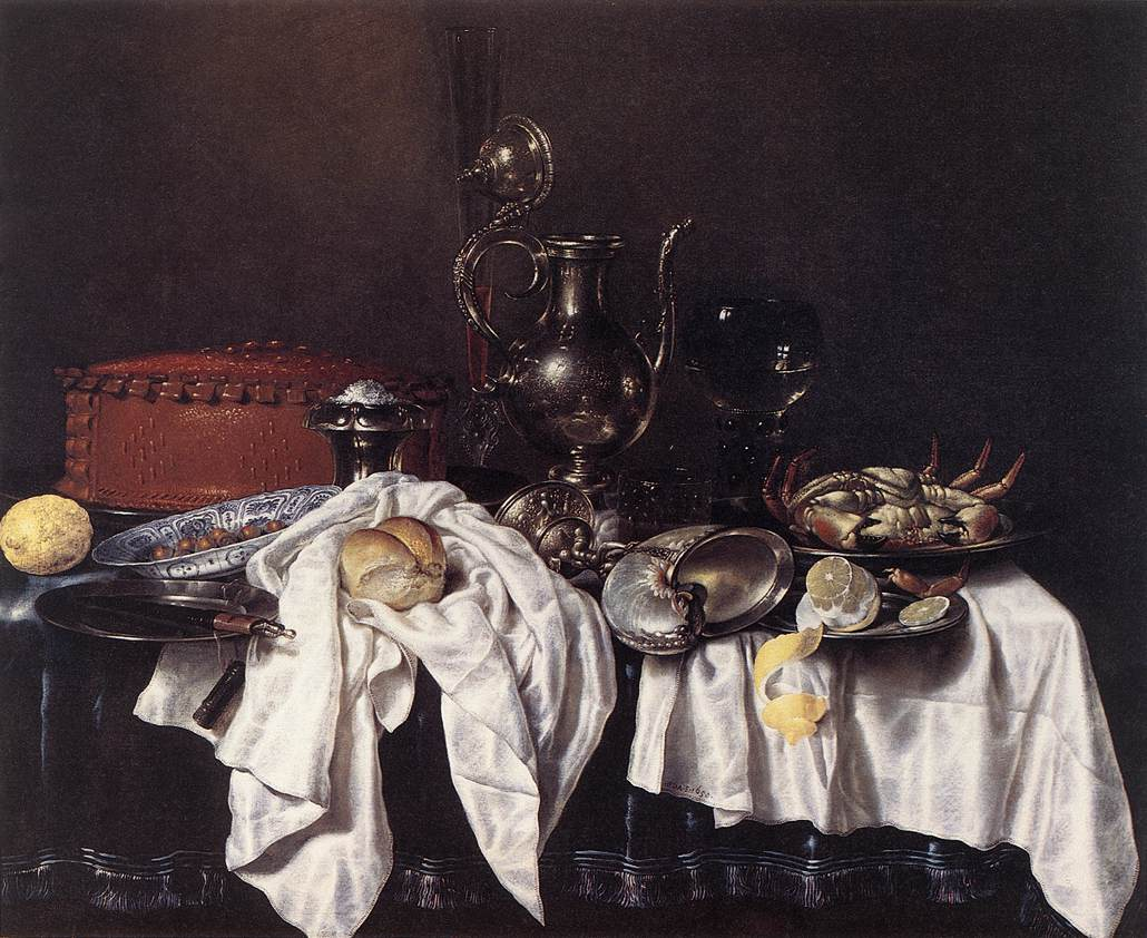 Claez heda willem nature morte à laiguière