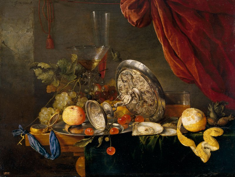 Jan de Heem jan de nature morte à la table garnie