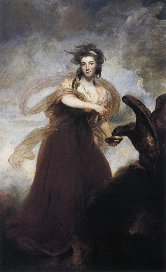 Hebe par Joshua Reynolds - Mrs Musters as Hebe