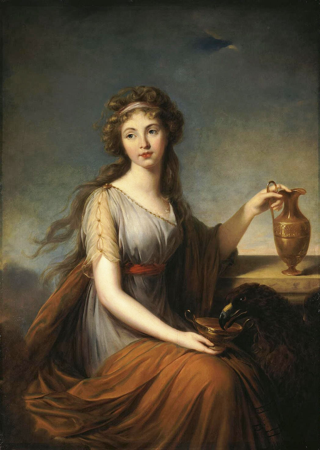 Hebe par vigée-lebrun-Portrait-of-Anna-Pitt-as-Hebe